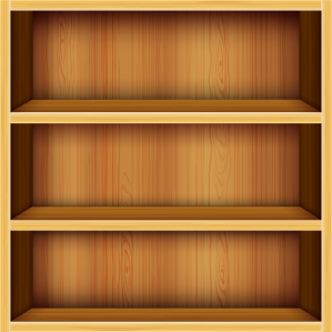 Library book shelves empty