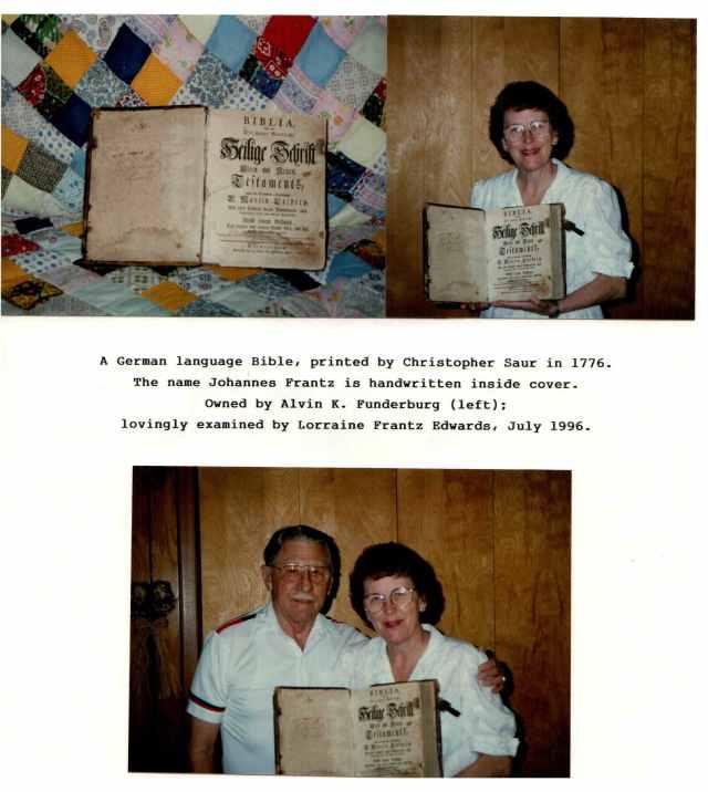 Christopher Saur Bible, Alvin Funderberg, Lorraine Frantz Edwards (photograph)