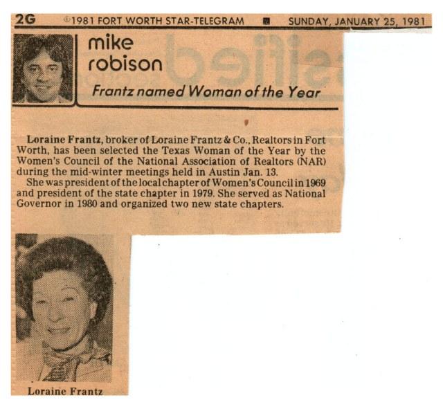Loraine Frantz Fort Wayne, Indiana 1981