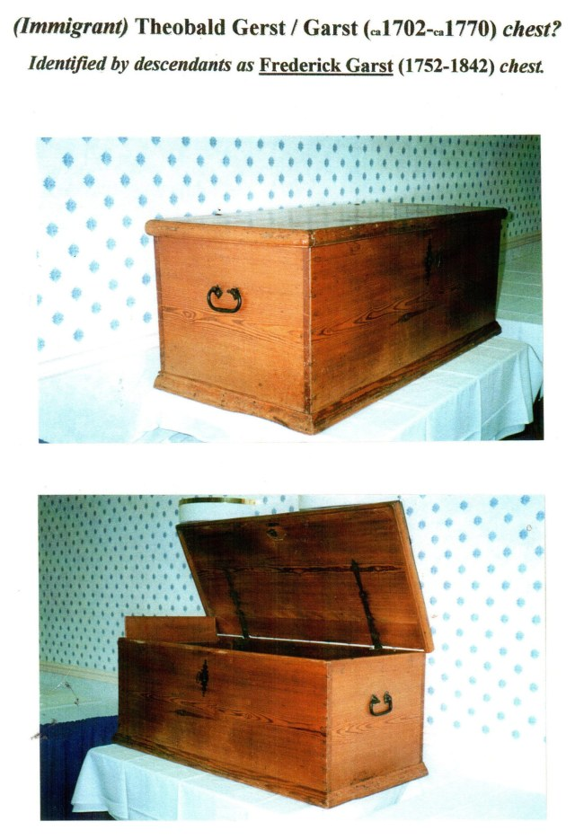 Theobald Garst chest, back and side