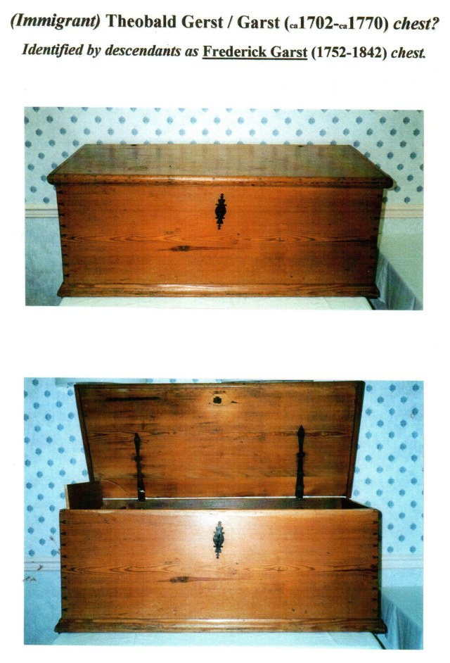 Theobald Garst chest, front