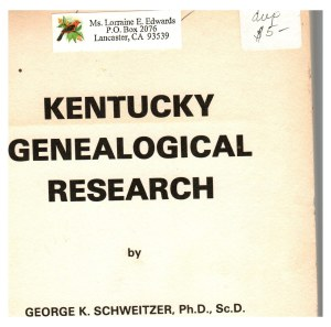 Kentucky research book