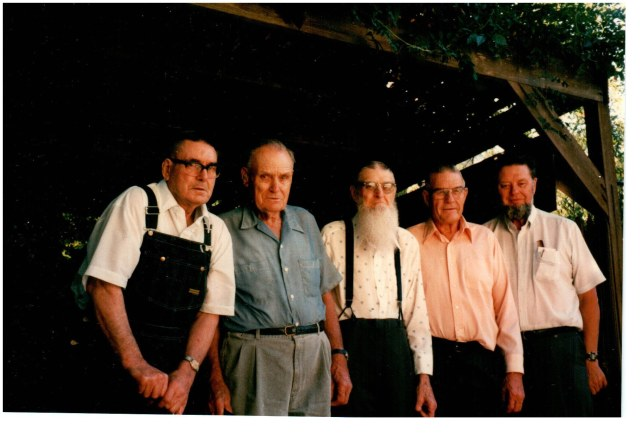 Ralph, Floyd, Alva, Everett and Lawrence Crist, 1996
