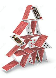 Pyramid stack of cards